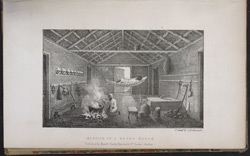 Illustration showing 'Interior of a Negro House', 1826